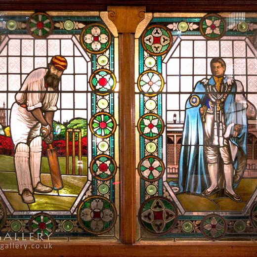 Champion, Fitzrovia: Cricketer & nobleman window