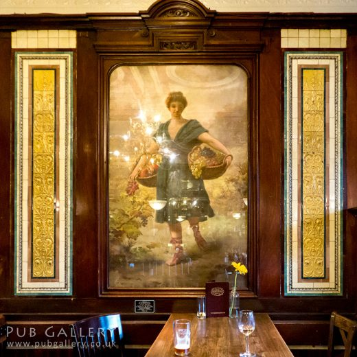Flying Horse, Fitzrovia: Painted mirror