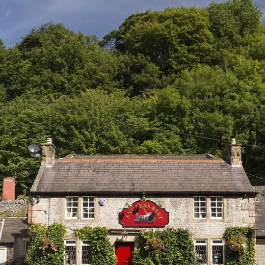 Anglers Rest, Millers Dale: with trees in background
