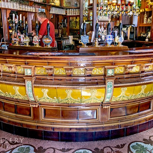 Black Horse, Preston: Ceramic bar counter