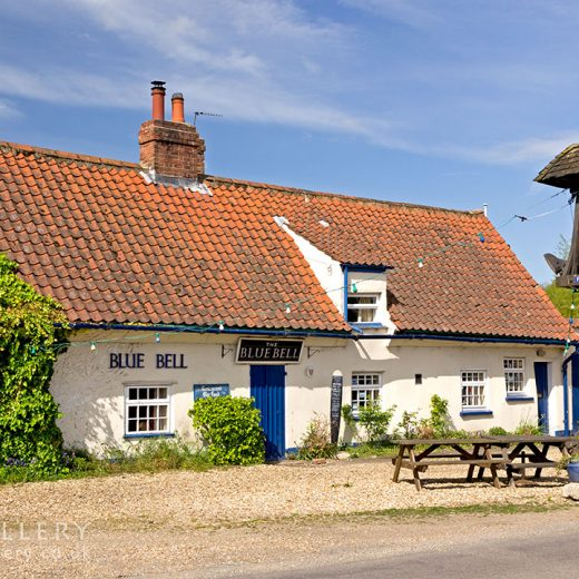 Blue Bell, Tattershall: Pub with inn sign to the right