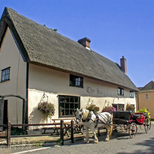 Kings Head, Laxfield: Pub with horse & carriage