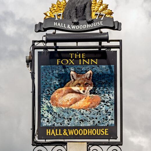 Fox, Bucks Green: Inn sign (photo 2)