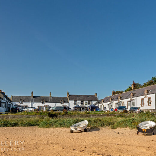 Ship, Low Newton: Beach with pub in background